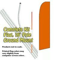 Solid ORANGE (Pumpkin) Feather Banner Flag Kit (Flag, Pole, & Mount) by Vista Flags. $67.40. Tall Feather Banner Kit (16 foot Pole , Flag and Ground Mount). Ships within 2 business days!. Flag made of knit polyester for longer life and brighter colors.. 100% dyed-through image, single-sided (back side reverse).. A great way to advertise.. This is a large 11.5 foot advertising banner that will really get you noticed. The flag is made of knitted polyester so it is...