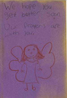 This card was one of thousands placed in the spontaneous tribute memorial at University Medical Center.