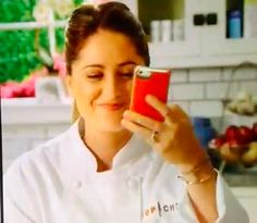 We smile when we look at our ADOPTED Case too. Top Chef Brooke Williamson wraps up her spot on Bravo's Top Chef with a glimpse of ADOPTED Leather Wrap in Scarlet/Silver.   #accessories #topchef #bravo #holidays