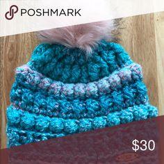 Handmade crochet beanie hat with Pom Pom Handmade crochet beanie. Thick b6247047dbe1