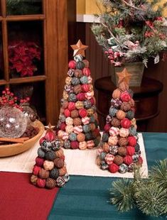rag-ball Christmas tree. What a great way to use up scraps! I also ...
