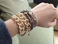 Obsessed with chain link jewelry!