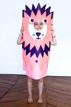 Lion Paper Costume •