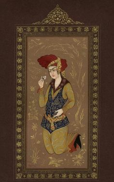 Young Safavid man - by Reza Mahdavi