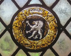 North Somercotes, Locksley Hall, Bathroom, north-east facing window, armorial roundel by gordonplumb, via Flickr