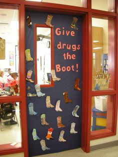 Door Decorations for Red Ribbon Week   Give drugs the Boot!   Judy Baxter   Flickr