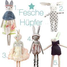 Von Nerds, Neon-Pom-Pom Puppen, Piraten-Löwen und Polka Dot Hasen   Pinspiration  http://pinspiration.de