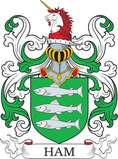 Ham Family Crest and Coat of Arms