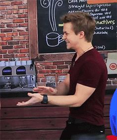 I can't even handle the cuteness of this gif.. Giggling Hunter Hayes, everyone.
