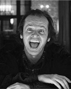 Jack Nicholson - The Shining directed by Stanley Kubrick, 1980 Best Horror Movies, Scary Movies, Hollywood Actor, Hollywood Stars, Hollywood Actresses, Jack Nicholson The Shining, Here's Johnny, Horror Artwork, Psy Art