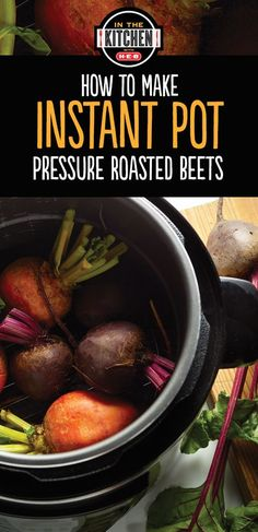 Instant Pot makes summertime cooking quick and easy. These pressure ro… Instant Pot makes summertime cooking quick and easy. These pressure roasted beets are the perfect side for any summer meal. Beet Recipes, Crockpot Recipes, Healthy Recipes, Recipies, Paleo Food, Vegetarian Recipes, Yummy Food, Hip Pressure Cooking, Pressure Cooker Recipes