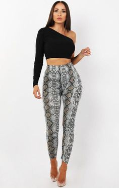 Animal Snake Print Leggings Full Length New Women's Ladies For Size Patterned Leggings, Printed Leggings, Best Leggings, Leggings Are Not Pants, Printed Pants Outfits, Animal Print Pants, Night Outfits, Snake Print, Print Patterns