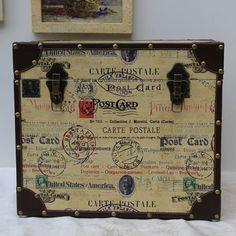 Ivory Wool Retro Vintage Stamp Postmark Luggage Suitcase Shop SKU-11204017