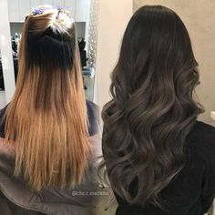 Hairstyles and Beauty: The Internet`s best hairstyles, fashion and makeup pics are here. Brown Hair Balayage, Hair Highlights, Ombre Hair, Hair Color For Black Hair, Brown Hair Colors, Dark Hair, Make Up Inspiration, Brunette Hair, Hair Dos