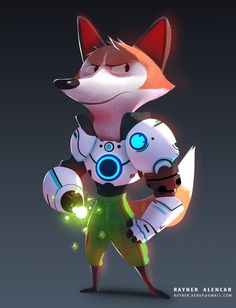Hybrid sci_fi character, also for made for Nick Sweetman mentoring website for game relates material Fox Character, Character Concept, Concept Art, Lowrider Art, Robot, Character Design Animation, Fox Art, Character Design Inspiration, Creature Design