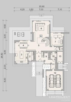 Large Floor Plans, Modern House Floor Plans, Luxury House Plans, House Layout Plans, House Layouts, House Design Pictures, Modern House Design, Classic House Exterior, Villa Plan