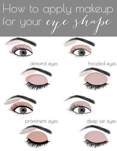 Eye Makeup Based on Eye Shape  The Best Makeup Cheat Sheets You'll Ever Need • Page 4 of 5 • BoredBug