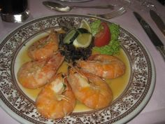 Delicious shrimps at Guido's restaurant, London
