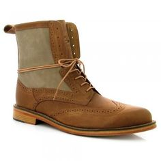 Men's tan boots- wear in winter AND spring @Refinery29 #jboots