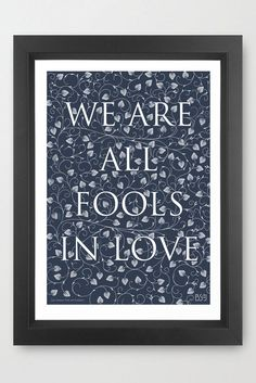 Original screenprint of quotation by Jane Austen from Pride & Prejudice.