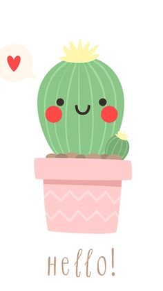 How cute is this cactus illustration! How cute is this cactus illustration! Cactus Drawing, Cactus Art, Screen Wallpaper, Wallpaper Backgrounds, Wallpaper Quotes, Cactus Illustration, Cute Drawings, Cute Wallpapers, Iphone Wallpapers