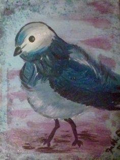 Canvas acrylic bird