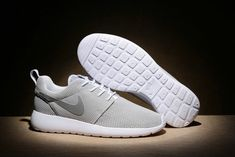 online store 70834 c8203 nouvelle arrivee Nike Roshe Run White blanc Metallic Silver 511881 103 Mens  Womens Running Shoes New