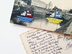 El blog de Dmc: Entrevistamos a Claudia Orengo; bordando sobre postales
