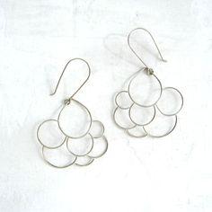 Cumulus Earrings Silver by MeanderWorks