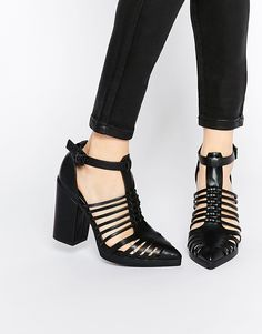 Image 1 of ASOS OZONE Caged Pointed Heels