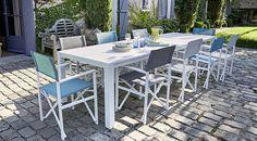 523a848530b690 Table de jardin en aluminium Batang 184 243 x 100 cm blanc   Castorama