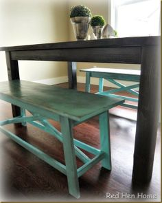 Kim's Farmhouse Table 003 - want to build something similar for back porch