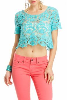 Love the color, Cropped Crochet Top   $19.95  http://www.2bstores.com/product/Tops/View-All/Cropped-Crochet-Top/pc/12/c/0/sc/91/8360.uts