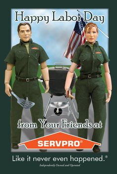 Happy Labor Day from SERVPRO