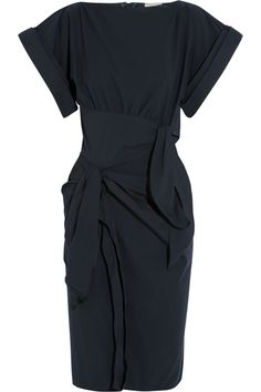 Bottega Veneta|Bow-embellished stretch cotton-blend dress|NET-A-PORTER.COM