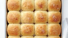 """Whether you prefer buttery rolls or flaky biscuits, a bountiful bread basket is a Thanksgiving dinner essential. Here are 20 recipes that will have your guests saying, """"Pass the bread basket! Food Network Recipes, Cooking Recipes, Bread Recipes, Parker House Rolls, Dinner Rolls Recipe, Everyday Food, Bread Baking, Thanksgiving Recipes, Thanksgiving Sides"""
