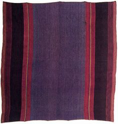Warp-faced plain weave with warp stripes, a woven border, and Z-plied yarns; Alpaca; warp: 108 cm, weft: 106 cm; Dept of Potosi, Bolivia; probably Colonial period by Knoxville Museum of Art, via Flickr