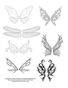 fairy wing template | Just to tide you over, here's another set of fairy wings I created ...