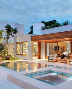 Rosamaria G Frangini Modern Villa Design, Luxury Homes Dream Houses, Dream House Exterior, Modern House Plans, Dream Home Design, Facade House, House Goals, Exterior Design, Future House