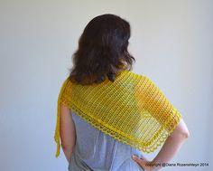 Ravelry: Bordertown pattern by Diana Rozenshteyn  Butterfly shawl