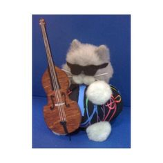 Little Willie  Double Bass Musician Cat by KrazyBoutKats on Etsy, $12.00