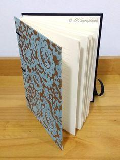 Caderno com encadernação artesanal copta (visão geral da páginas internas)