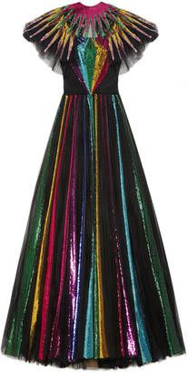 Shop Now - >  https://api.shopstyle.com/action/apiVisitRetailer?id=627462032&pid=uid6996-25233114-59 Embroidered sequin tulle gown  ...