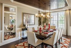 """593 Likes, 13 Comments - Toll Brothers (@tollbrothers) on Instagram: """"Today's #BestofToll photo, from a model home in #NJ, is an #elegant formal #dining room, a great…"""""""