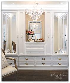 DIY Custom Closet Dressing Room | Crystal chandelier | Classy Glam Living