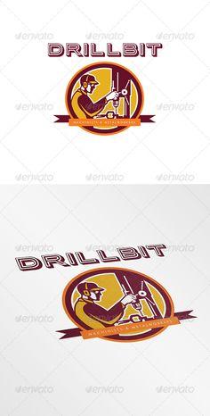 Drillbit Metalworks Logo Design Template Vector #logotype Download it here: http://graphicriver.net/item/drillbit-metalworks-logo/8278939?s_rank=1139?ref=nexion