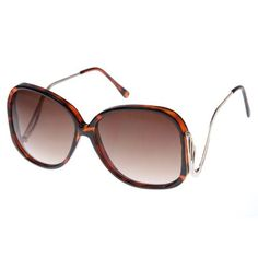 0aefc8882b9 Large Square Low-Cut Out Temple Womens Oversized Sunglasses Fashion Eyewear