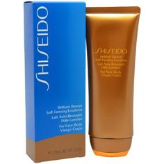 Shiseido Brilliant Bronze Self-tanning Emulsion (for Face and Body) Tanner for Unisex, 1.7 Ounce by Shiseido. $25.00. Fragrance Notes:. Recommended Use:. Brilliant Bronze Self-Tanning Emulsion ( For Face & Body )--/3.5OZ. A self tanner that helps develop rich bronze. Promotes a gorgeous, glowing sun-kissed color. Smoothes on evenly with dewy touch. Incredibly brings out healthy skin tone. Dermatologist tested.