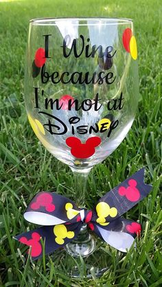 A personal favorite from my Etsy shop https://www.etsy.com/listing/251406420/disney-wine-glass-wine-glass-mickey