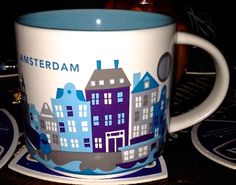Amsterdam - Starbucks You Are Here Mugs Starbucks Coffee Cups, Starbucks City Mugs, Starbucks Tumbler, Coffee Tin, I Love Coffee, Coffee Mugs, Teapots Unique, Cool Mugs, Teapots And Cups